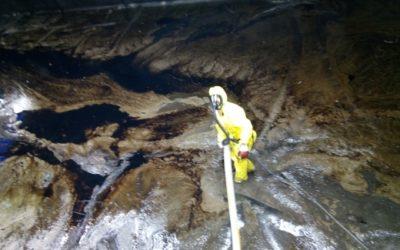 Chantier TIGF – Nettoyage d'un bassin de 800 m3