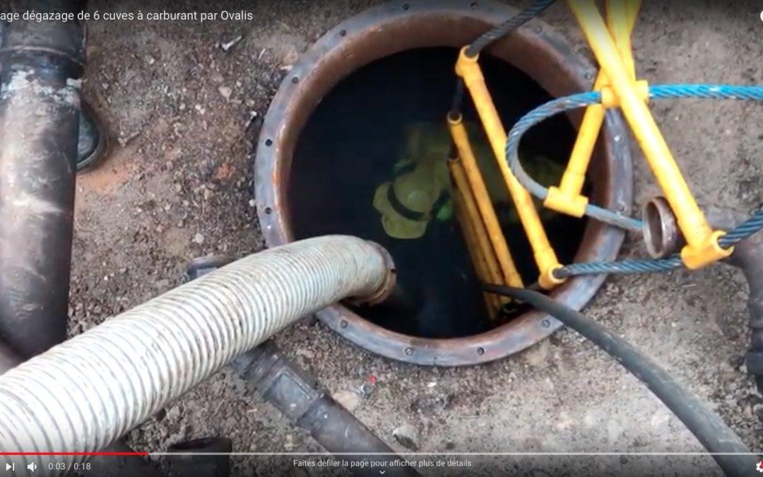 Nettoyage et dégazage de 6 cuves à carburants
