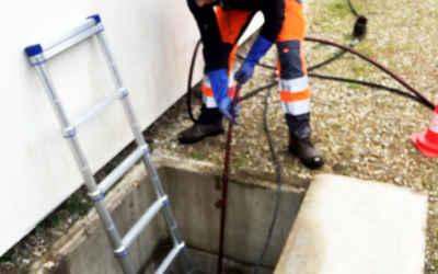 Curage et inspection télévisée de canalisations d'eaux usées et pluviales
