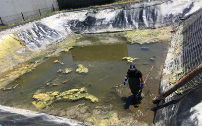 Pompage d'eau de 2 bassins de stockage d'incendie en site industriel